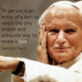 quote john paul ii pope saint love person entity relate humanity.jpg