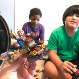 Legos with cousins.